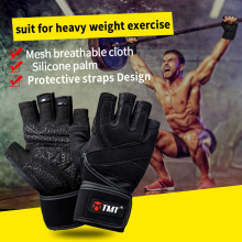 TMT Half Finger Non-Slip Breathable Shockproof Dumbbell Body Building Weightlifting Fitness Exercise Training Protective Gloves