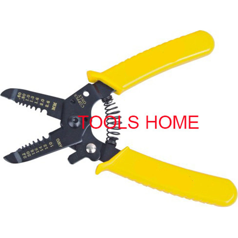 6inch Portable Wire Stripper Pliers Crimper Cable Stripping Crimping Cutter Hand Tool with Manganese Steel for Electrical