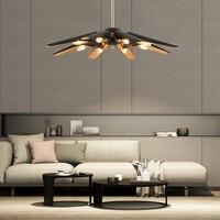 Postmodern Industrial Wind Simple Creative Artistic Pendant Light American Retro Duplex HouseVilla Broywood Pendant Light LO7259