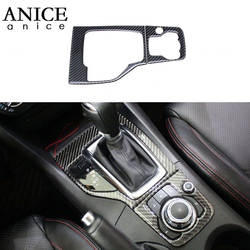 Углеволокно + PU Шестерни держателем переключения Панель Накладка подходит для Mazda3 Axela 2014-2016 на LHD левой стороны Североамериканская версия