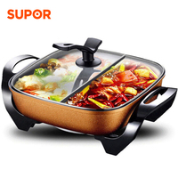 Electric Hot Pot Household Multifunctional Electric Cooker 2 Independent Pot 5L Non stick Hotpot Soup Maker Cooking Appliances
