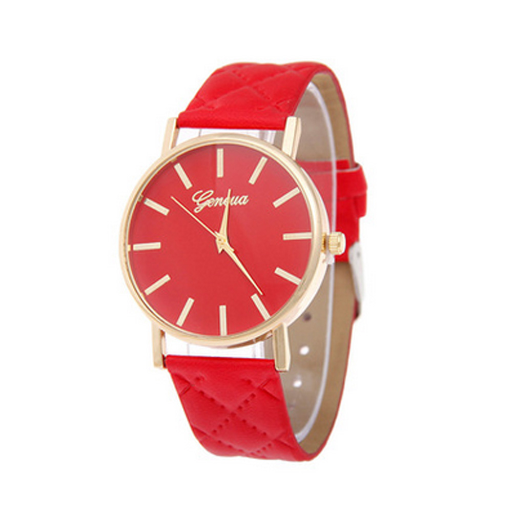 New Fashion Korean Quartz Watch Unisex Casual Couple Faux Leather Wrist watch