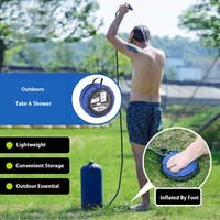11L Pvc Outdoor Inflatable Shower Pressure Shower Water Bag Portable Camp Shower