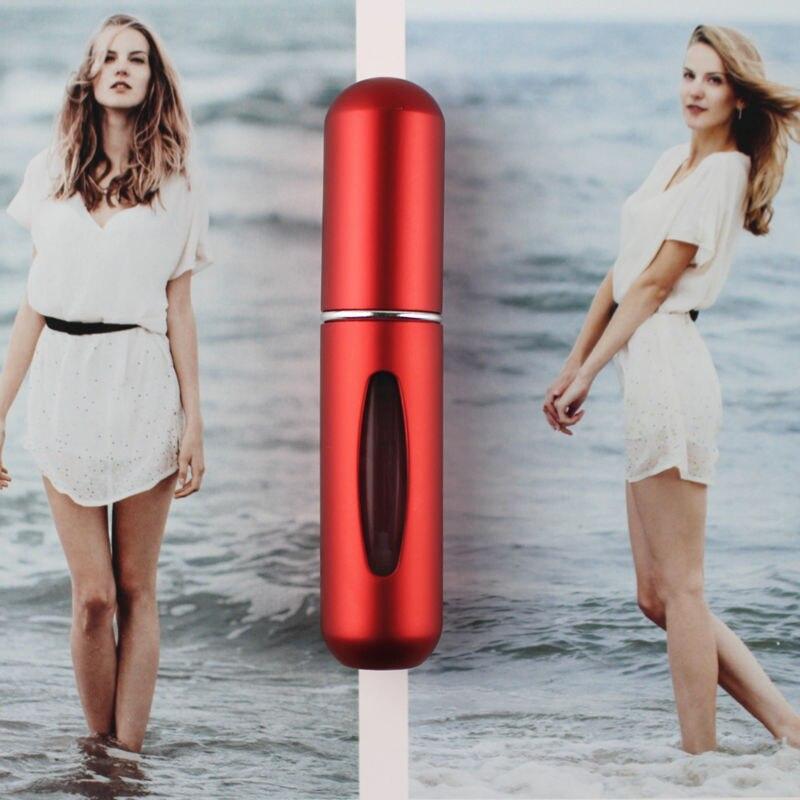 1 шт. высокое качество 5 мл флакон духов мини металлический распылитель многоразовый Алюминиевый распылитель для парфюма размер путешествия - Цвет: Red