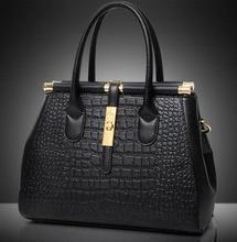 Luxus Krokodilleder umhängetasche retro neue 2017 weibliche mode vintage clutch designer-handtaschen sac ein haupt frauen 5