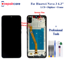 4 Colors For Huawei Nova 3 LCD Display With Frame 6.3 Touch Screen Digitizer Assembly Replacement for