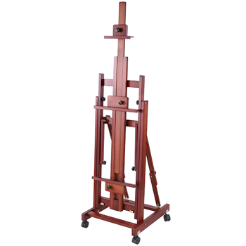 Caballete de madera maciza de doble propósito Pintura acuarelas artísticas Caballete Pintura...