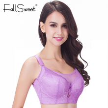 FallSweet Big Size Bras   Push up Large Cup bras  E F cup  lace women underwear lingerie  105 110 sostenes mujer grande