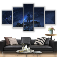 лучшая цена 5 Piece Dragon Night King Game of Thrones Season 8 Movie Poster Paintings A Song of Ice and Fire Poster Paintings for Wall Decor