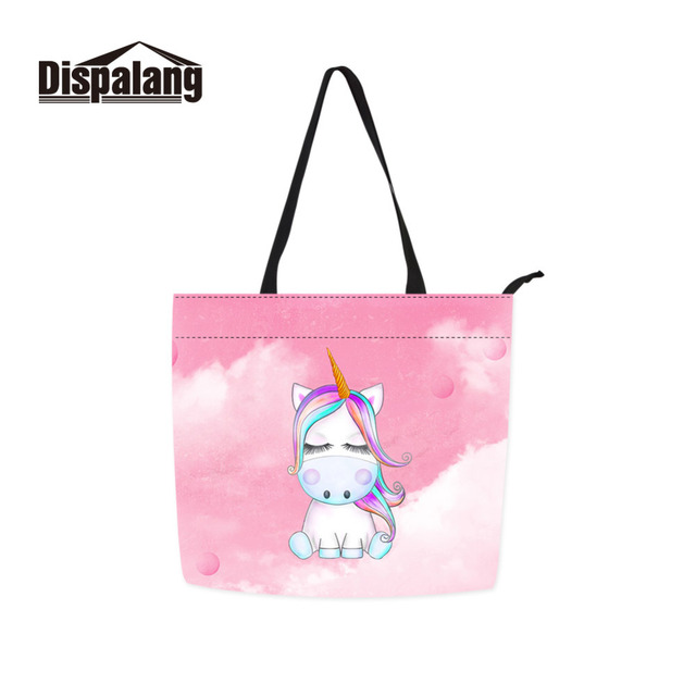 Cartoon Dabbing Unicorn Shoulder Bag for Girls Casual Animal Handbag Women  Shopping Bag Leisure School Bag 520e893af8b40