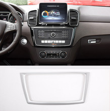 ABS Chrome Center Console Frame Trim For Mercedes Benz GL GLE GLS ML Class Car Accessories