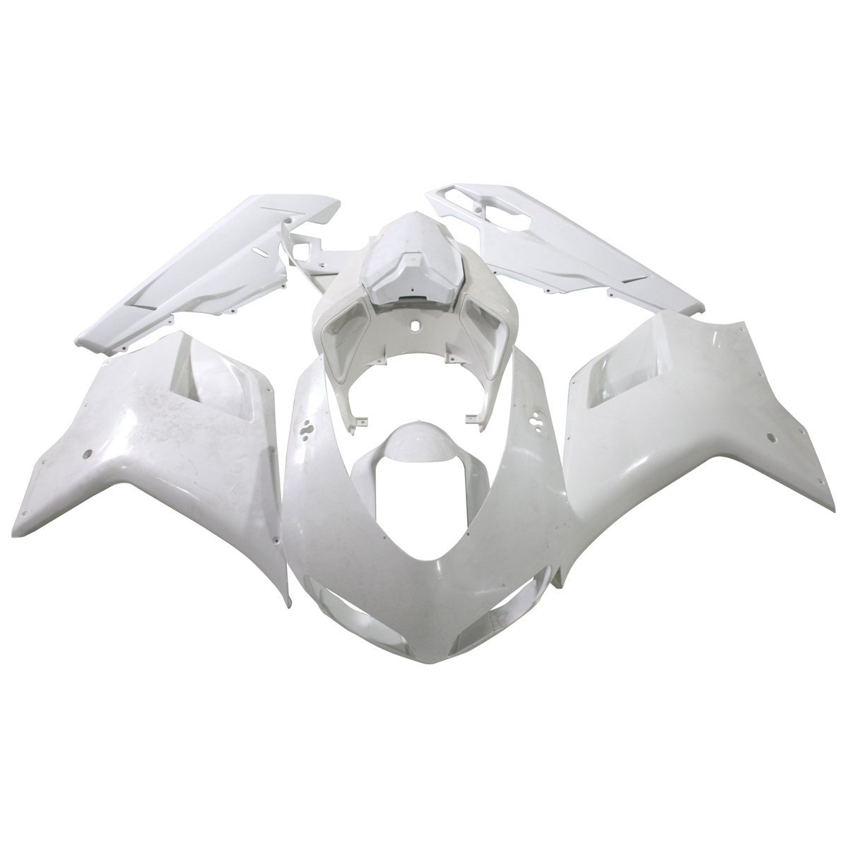 ABS Plastic Injection Bodywork Fairing Kit For Ducati 848 1098 1198 2007 - 2011 2010 2009 Motorcycle Unpainted Fairings Cowl