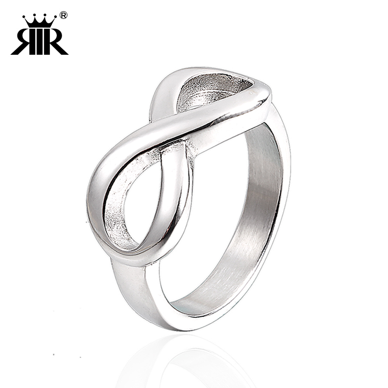 RIR Classic Infinity Ring ruostumattomasta teräksestä Wedding Promise Ring naisille Stainless Steel Ladies Tiny Eternity Rings