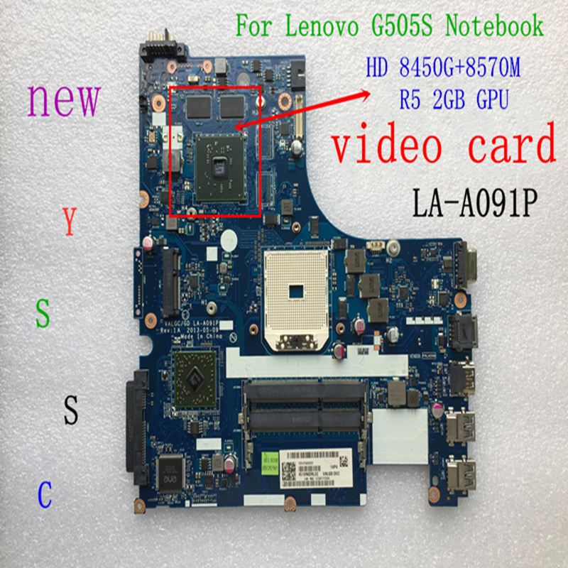 XCMCU new LA A091P mainboard for Lenovo G505S laptop pc motherboard for amd HD 8450G 8570M