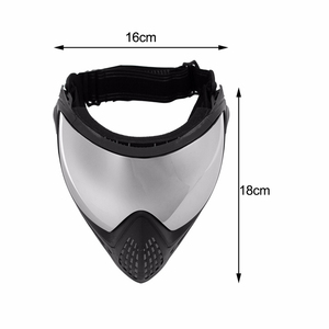 Image 5 - FMA Outdoor Airsoft Tactical Eyewear Ski Hunting War Game Anti fog Protective Goggle Full Face Mask with Reflective Lens FM 0024