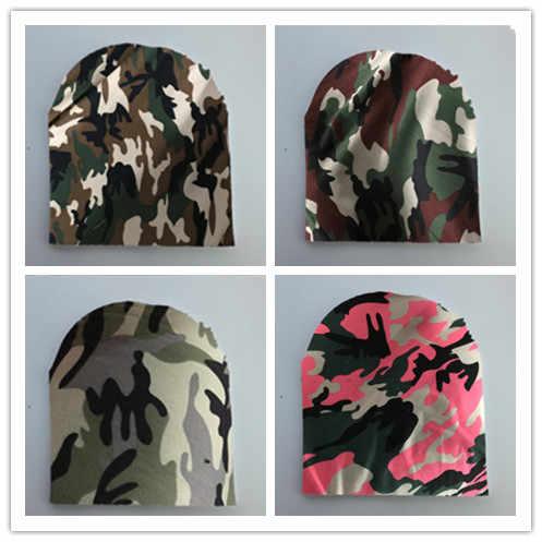 Новинка; Детские сумки для женщин серого цвета армии мужские Камуфлированные штаны, милитари Детские крышка капота для камуфляжной расцветки, шапка бини для детей помпонами для новорожденных