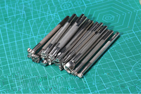 20Pcs Lot DIY Leather Carving Tools Leather Working Saddle Making Tools Set Printing Tools
