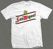 Cerveceria cerveza San Miguel camiseta Espana espanol cerveza Cool Casual orgullo camiseta hombres Unisex nueva moda camiseta