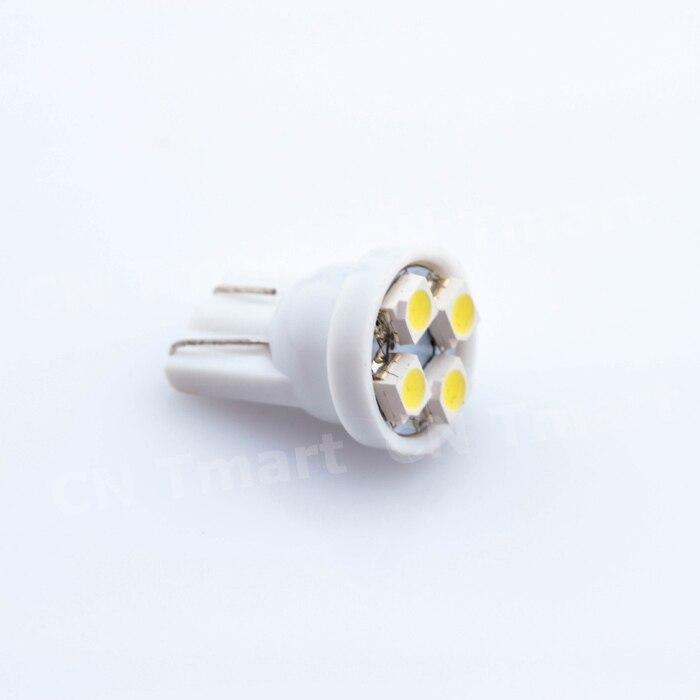 T10 W5W 4 СМД 1210 3528 DC12v 194 168 автомобилей клин из светодиодов 4LED габаритных фонарей авто чтение купола лампы 4SMD