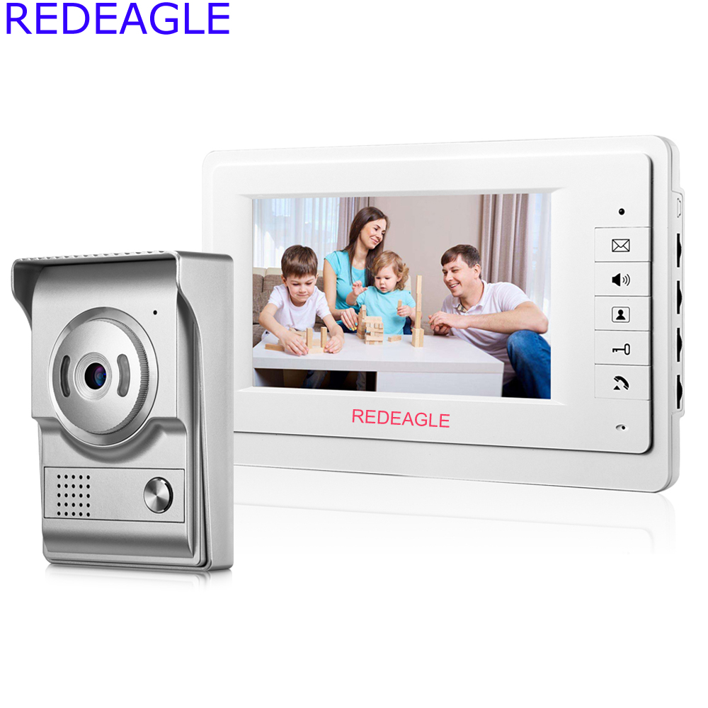 REDEAGLE Home Wired 7 Inch LCD Video Door Phone Intercom System W/ 700TVL Color Doorbell Camera + 5M Cable Free Shipping