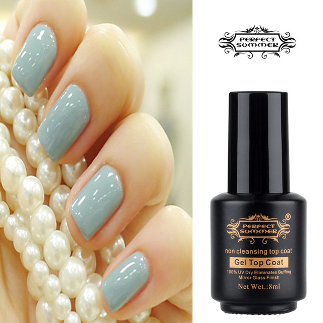 Perfect Summer Non Cleansing Mirror Gl Finish Cover No Sticky Nail Gel Shinning 8ml Top