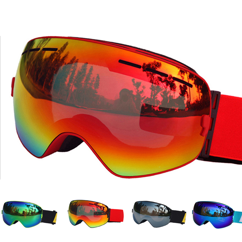 Ski Glasses Double Lens UV400 Anti-fog Ski Goggles Snow Skiing Snowboard Motocross Goggles Ski Masks or Eyewear topeak outdoor sports cycling photochromic sun glasses bicycle sunglasses mtb nxt lenses glasses eyewear goggles 3 colors