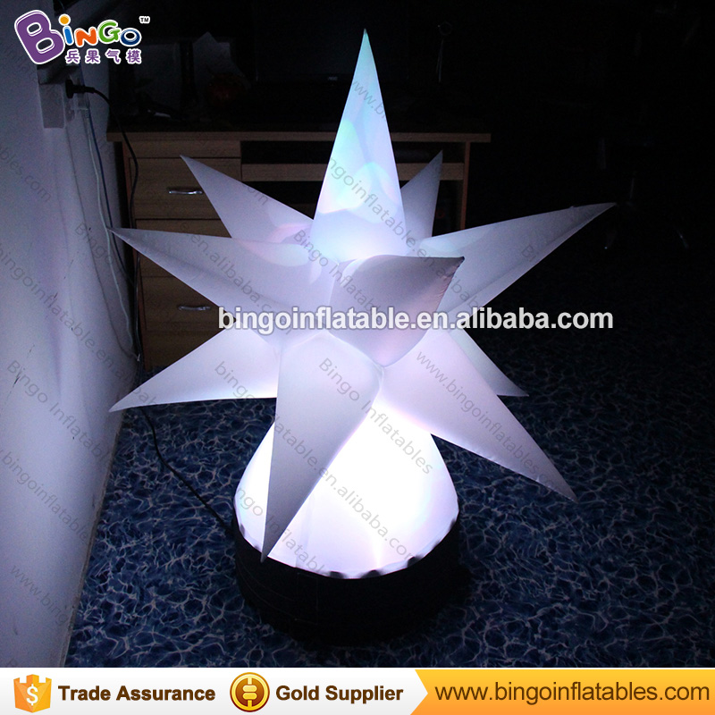 1.1 Meters LED inflatable stars with changing color/ground type air-blown star light-up toy/Multi-Angle star lighting decoration1.1 Meters LED inflatable stars with changing color/ground type air-blown star light-up toy/Multi-Angle star lighting decoration
