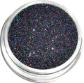 Black Holographic Glitter DIY Nail Powder Dust Fashion Nail Tip Decoration Tools UV Gel Nails, 5g jar. Free shipping