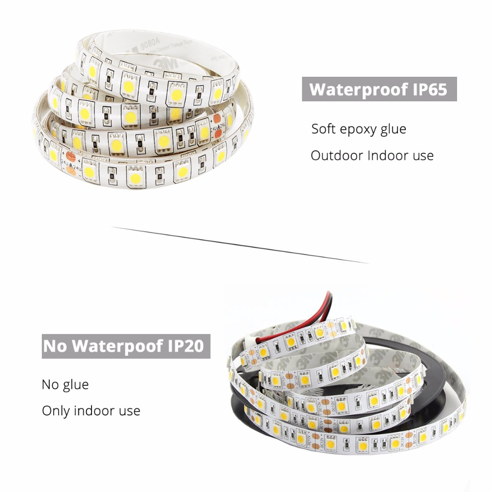DC12V 5M LED Strip 5050 RGB, Flexibel Light 5050 LED Strip - LED-belysning - Foto 2