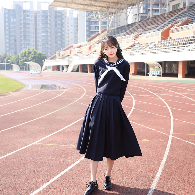 Adult Naughty Japan Korea England Wear Preppy Chic White Popular Lovely Long Skirts -6712