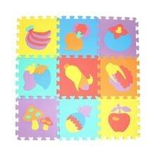 10 шт. животный принт Foam Puzzle детей ковер Разделение совместное Ева детские игры мат Крытый Мягкая активности головоломки коврики