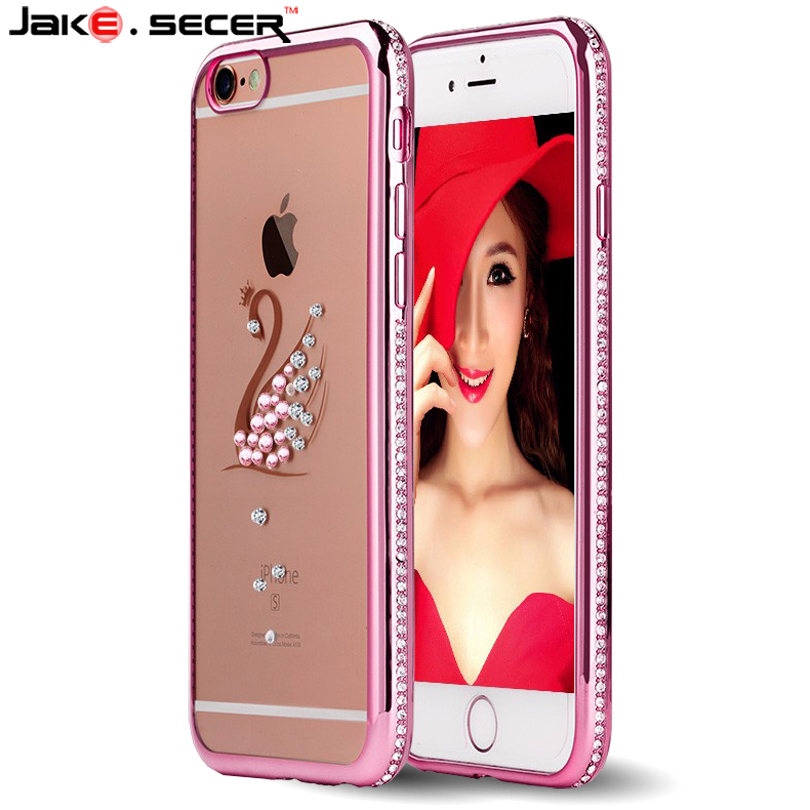 Case for iphone 6 s luxury Rhinestone Clear Girly Cover Coque Case for apple iphone 6s plus 4.7