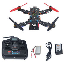 Assembled Full Kit 250mm Q250 PRO Carbon Fiber RFT RC Drone Quadcopter Multirotor with Transmitter Battery F11858-M