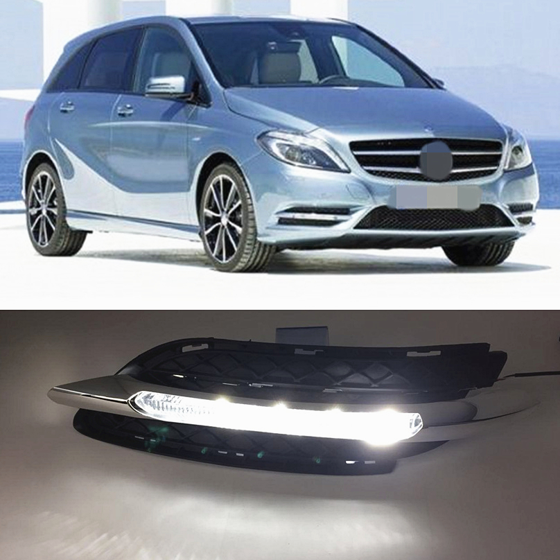 Car Flashing for Mercedes Benz B200 W246 B180 2011 2014 LED DRL Daytime Running Light Daylight Waterproof Fog Lamp free shipping-in Car Light Assembly from Automobiles & Motorcycles    1