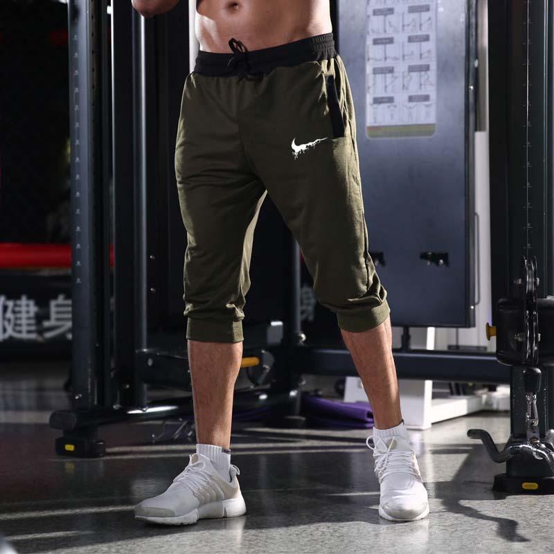 2019 Novos Homens de Moda Verão Cor Sólida Casual Capri Calças Curtas de Alta Qualidade Shorts Homens Bermuda Masculina Curto Homme