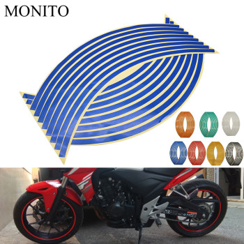 Motorcycle Wheel Sticker Reflective Decals Rim Tape Strip For BMW R1200S R1200ST R1150RT F650CS R1100S R1150R S1000R Accessories image