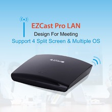 ezcast pro lan Wireless VGA/HDMI Smart TV Box Support Miracast Dongle DLNA WiFi Routers 4 Split Screens Media TV Stick airplay