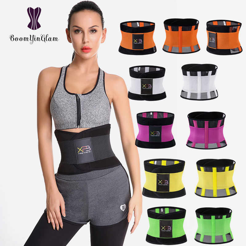 f4409fdfd 7 Colors Choices Waist Trainer Xtreme Power Belt Fitness Waist Support Corset  Shaper Belt For Women