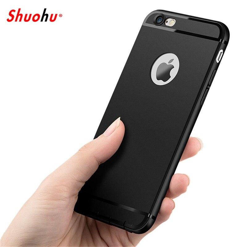 Galleria fotografica Shuohu Soft Matte Phone Cases for Iphone 7 Plus Case Luxury Silicone Capa Cover for Coque Iphone 6 Case 6S Plus Fashion Housing