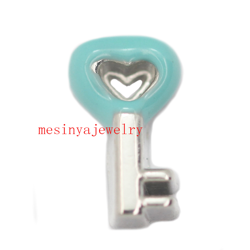 10pcs key   floating charms for glass locket, FC-342. Min amount $15 per order mixed items
