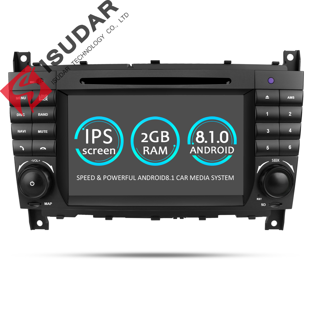 Isudar Car Multimedia Player GPS Android 8.1 2 Din DVD Automotivo For Mercedes/Benz/Sprinter/W203/A180/Viano/Vito/A-class Radio цена 2017