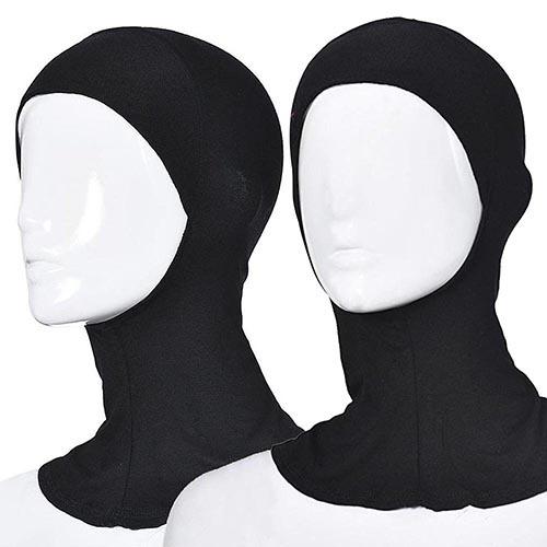 Muslim Elastic Full Cover Inner Hijab Head Neck Cap Underscarf Islamic Hat Store 49