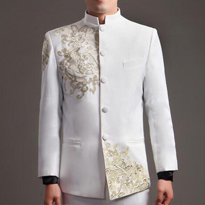 Estilo Estilo de Tang patrones traje hombres bordado chino chaqueta ...