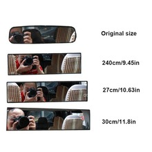 цена на 1PCS 300mm Car Interior Large Vision Rear View Mirror  Blind spot Panoramic Anti-dazzling mirror Assisted mirror Car Accessories