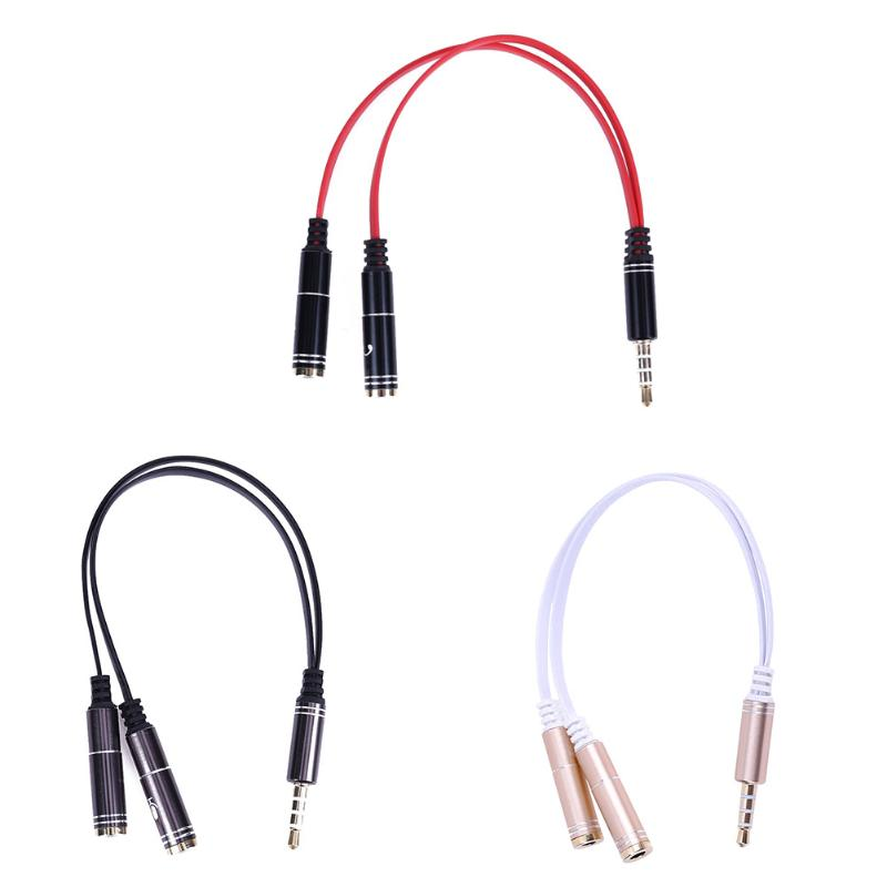 3.5mm Jack Male to 2 Female Audio Splitter Cable Adapter Microphone Mic Y Distributor Cable Cord Wire Adaptor for Earphone Mic