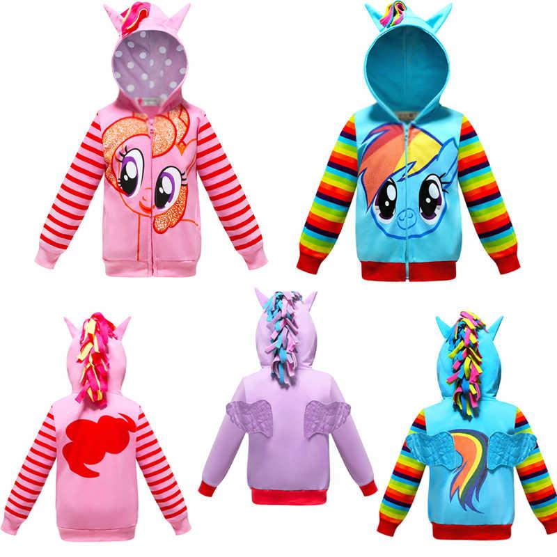 2019 nouvelle licorne bande dessinée aile automne hiver filles manteau bébé enfants vêtements à capuche enfants manteaux veste vêtements