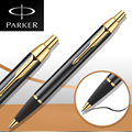10 Style Parker IM Ballpoint Pen With Golden Clip Parker roller Ball point Pen Refill for Business Writing Office School