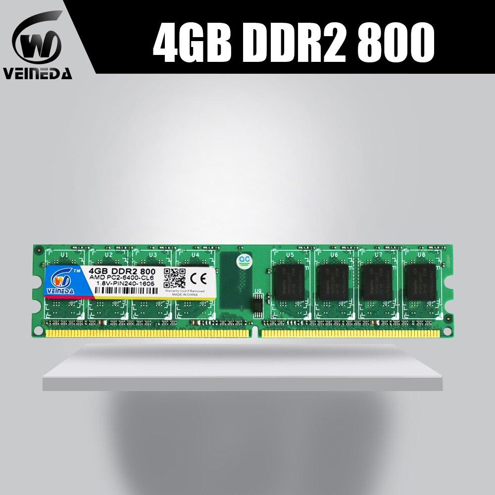 Veineda 4 gb 8 gb 2x4 gb ddr2 ram 800 667 pour intel et amd mobo support de bureau memoria 8 gb ram ddr2 PC2-6400