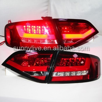 For Audi A4L A4B8  LED Tail Light Rear lamp 2009-2012 for Original  LED  type  Red white