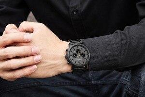 Image 5 - CURREN повседневные кварцевые аналоговые Мужские часы модные спортивные наручные часы с хронографом из нержавеющей стали мужские часы Relogio Masculino